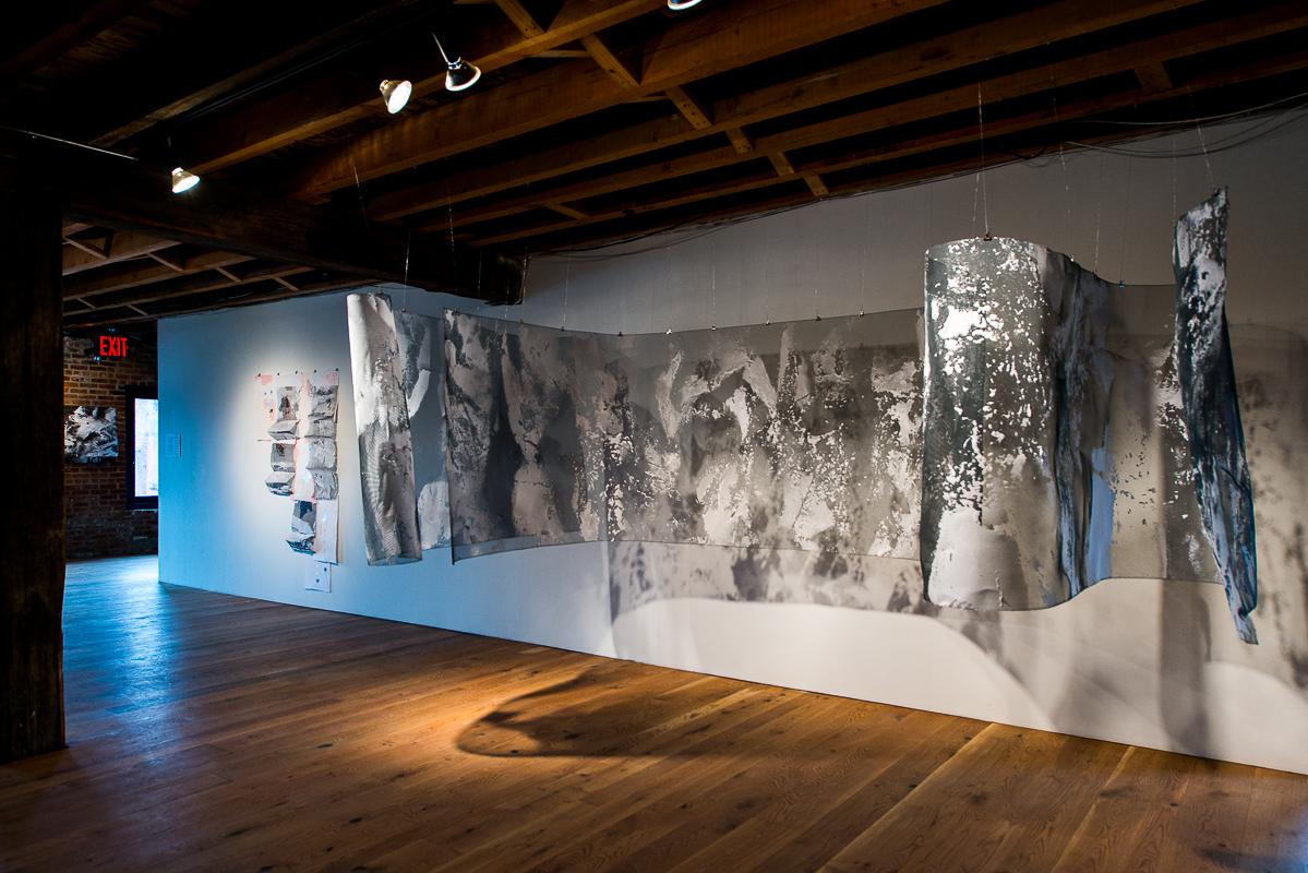 Installation view of PAPER:work by Tahir Karmali