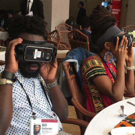 People using VR sets in Arusha